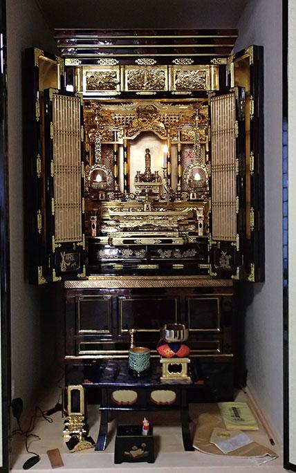 金仏壇簡易洗濯リフォーム