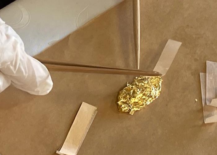 金箔張り体験教室